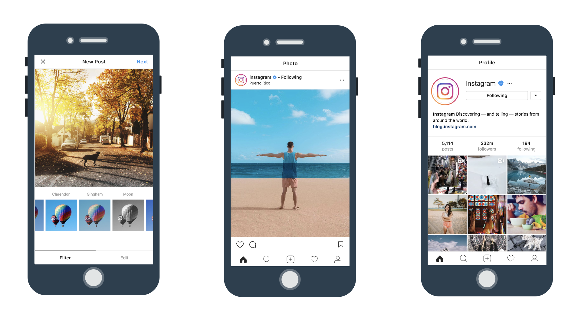 examples of PWA development - Instagram