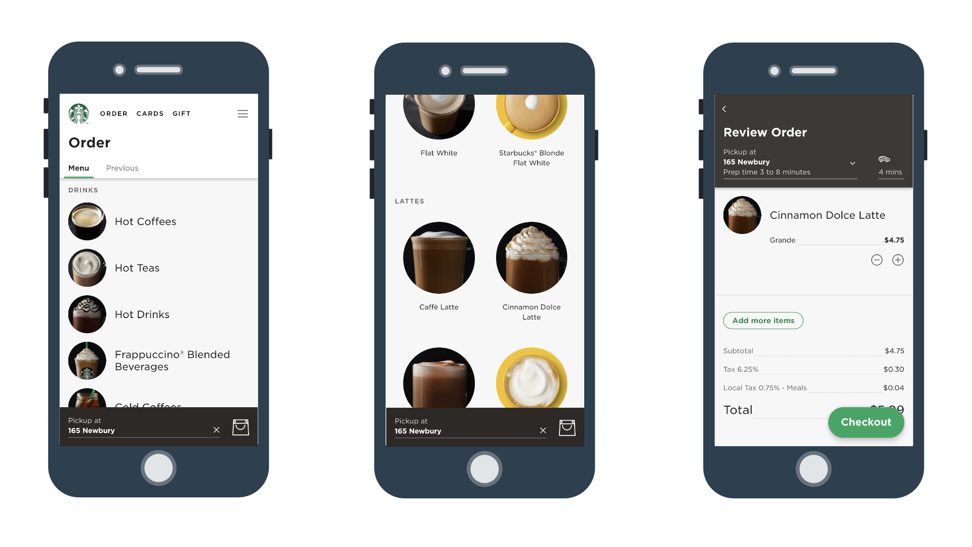 examples of PWA development - Starbucks