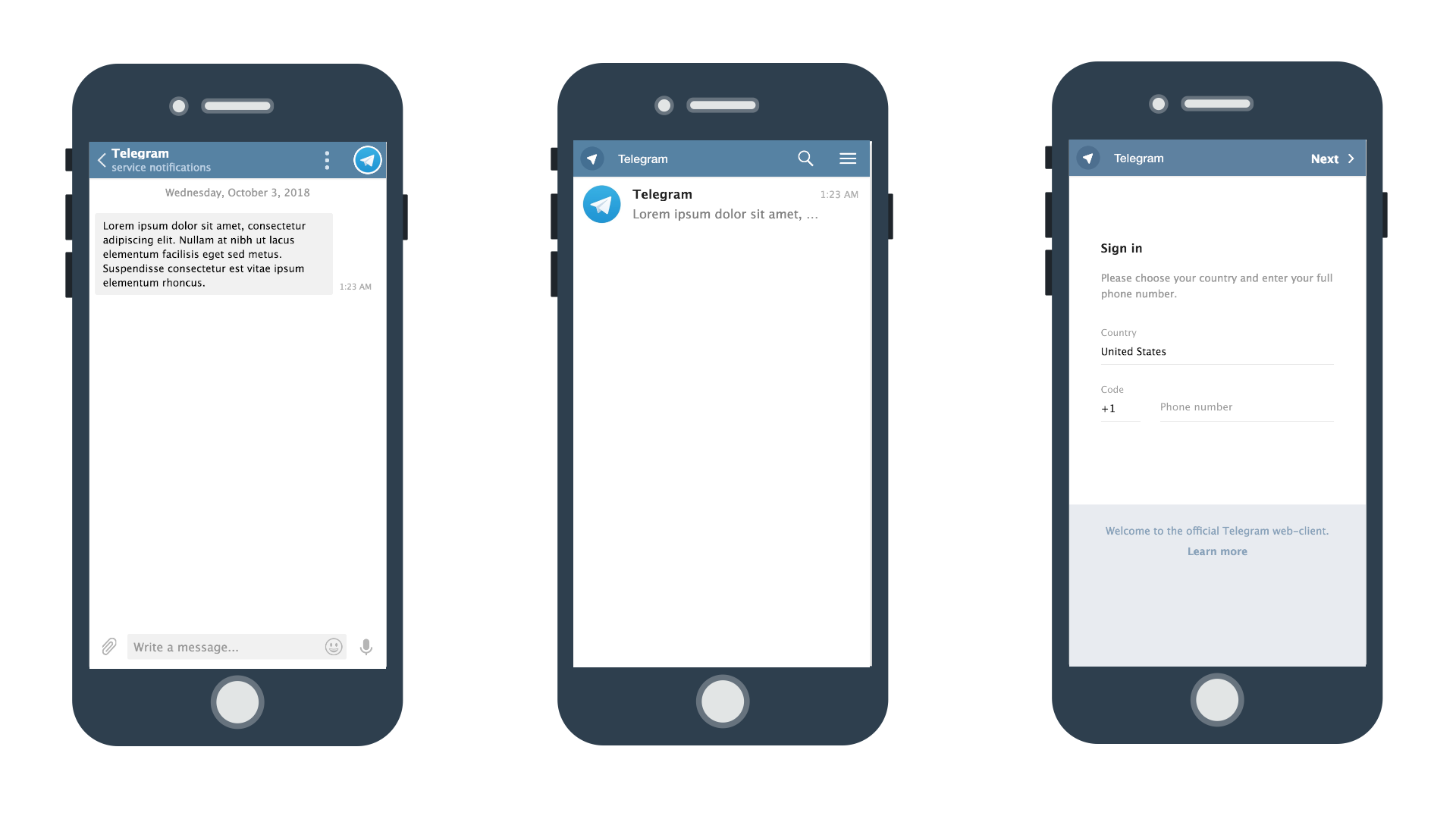 Telegram's progressive web app